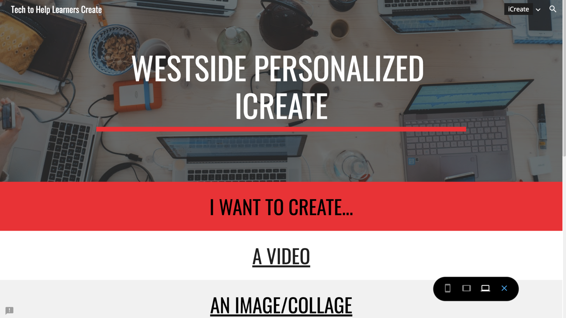 Sharing Our iCreate Site to Support Learners with Projects (ep. 47)